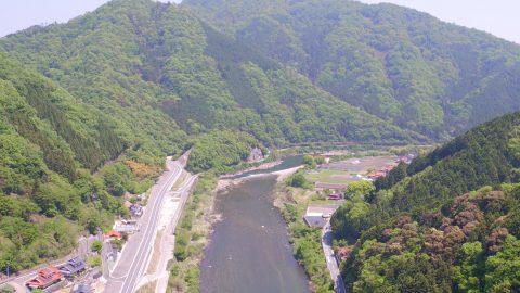 太田川上空